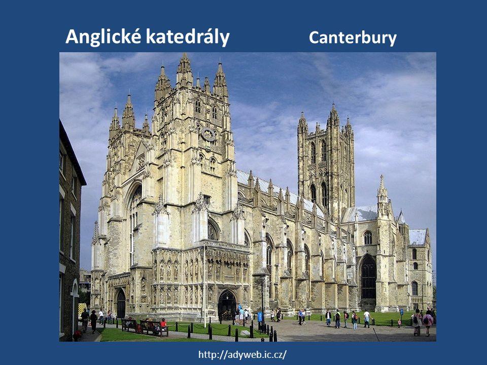 Anglické katedrály Canterbury