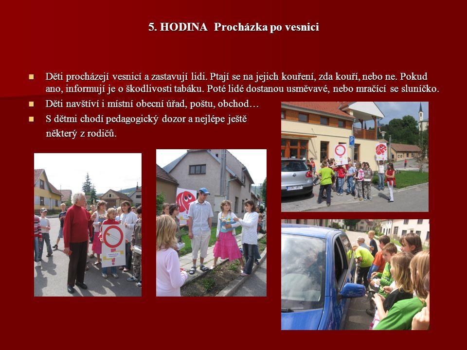 5. HODINA Procházka po vesnici