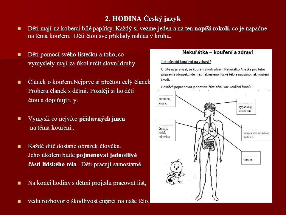 2. HODINA Český jazyk