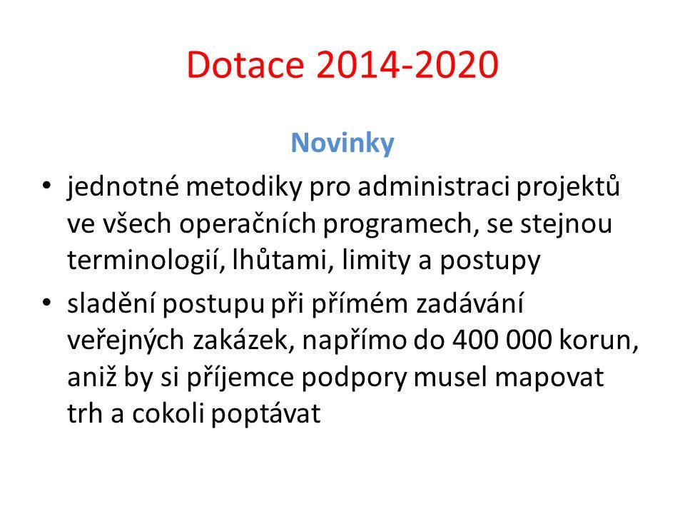 Dotace 2014-2020 Novinky.