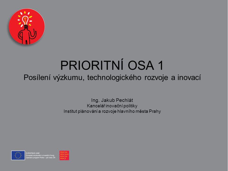 PRIORITNÍ OSA 1 Posílení výzkumu, technologického rozvoje a inovací