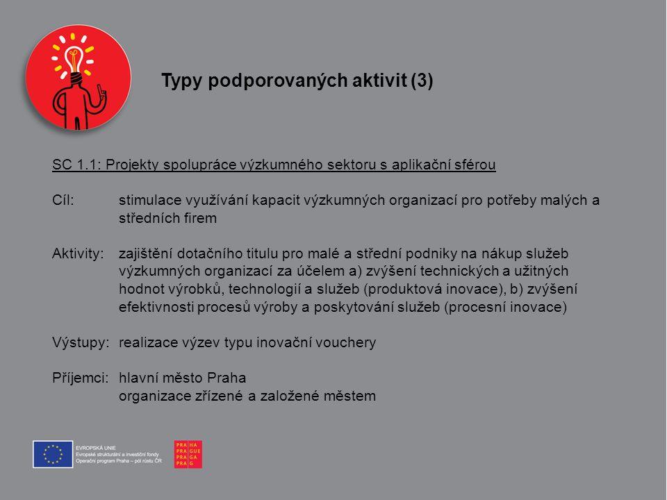 Typy podporovaných aktivit (3)