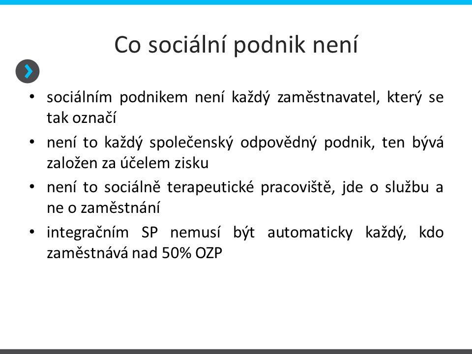 Co sociální podnik není