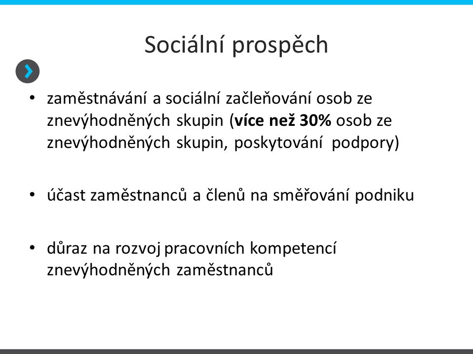 Sociální prospěch