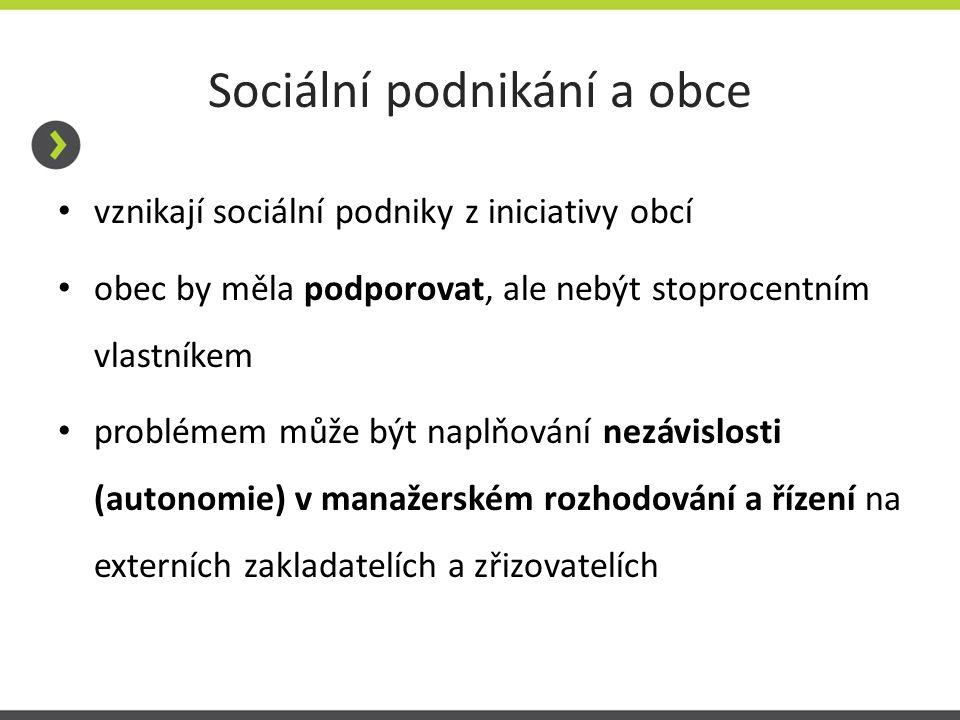 Sociální podnikání a obce