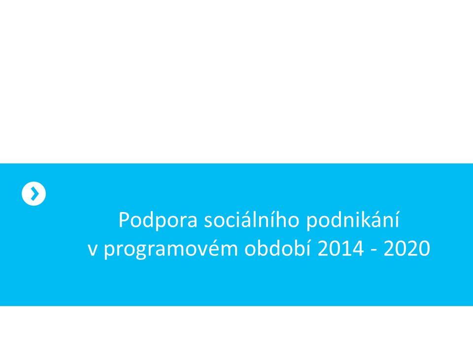 Podpora sociálního podnikání v programovém období 2014 - 2020