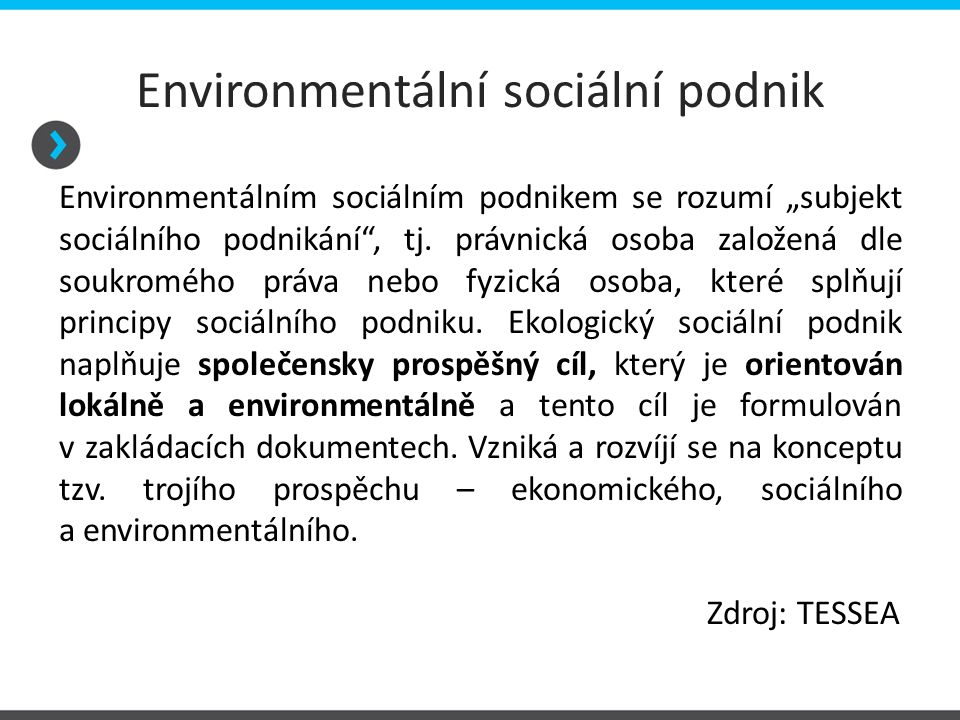 Environmentální sociální podnik