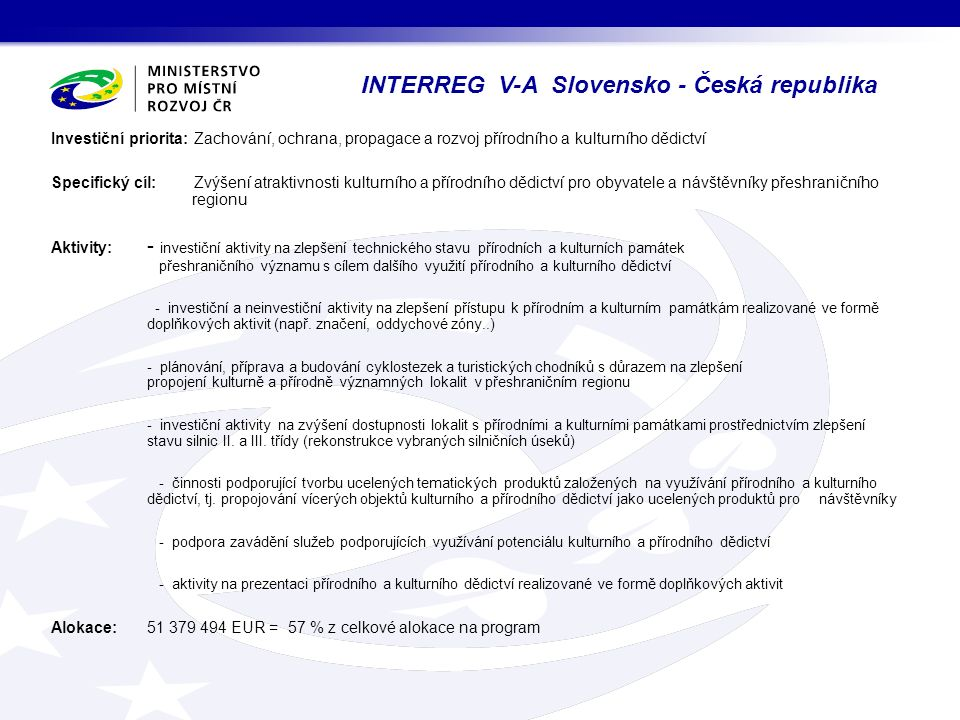 INTERREG V-A Slovensko - Česká republika