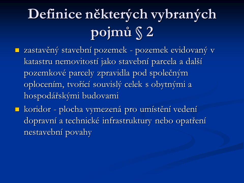 Definice některých vybraných pojmů § 2