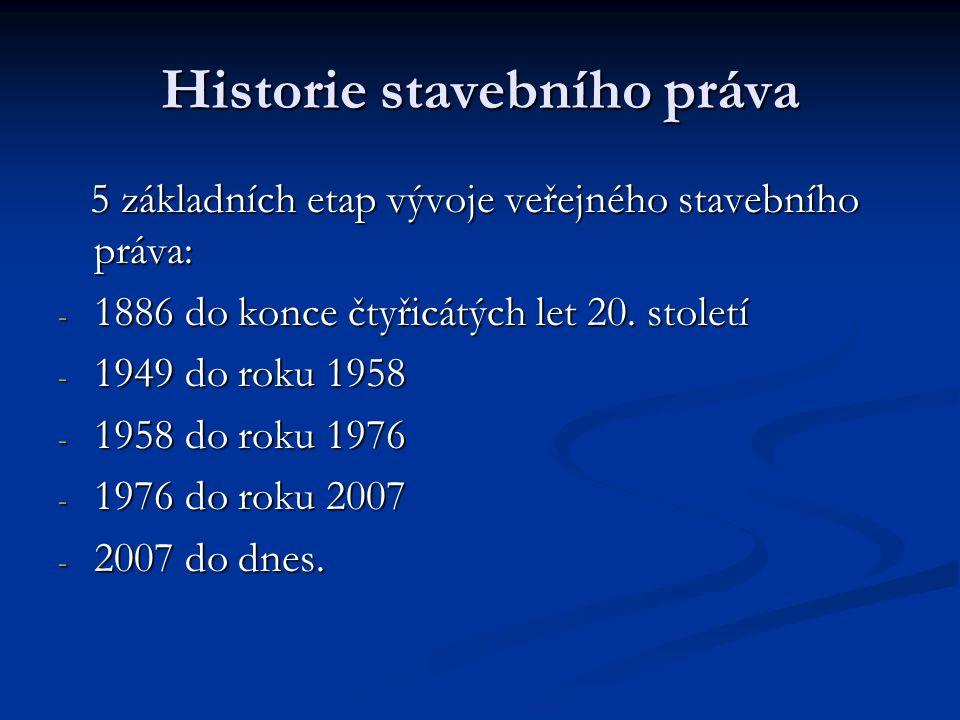 Historie stavebního práva