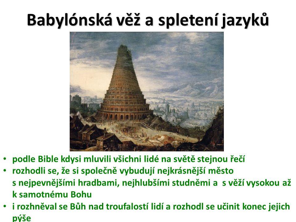 Babylónská věž a spletení jazyků