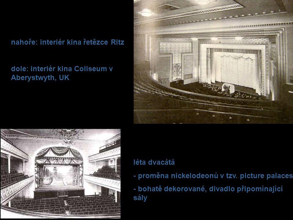 nahoře: interiér kina řetězce Ritz