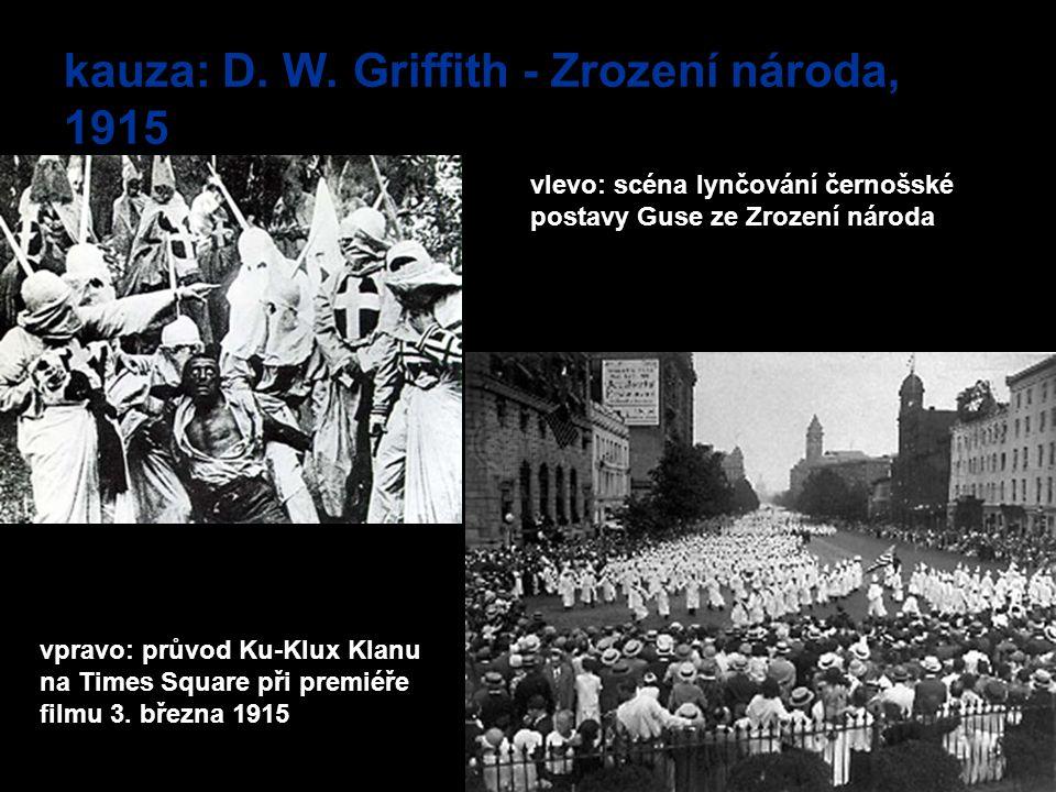 kauza: D. W. Griffith - Zrození národa, 1915