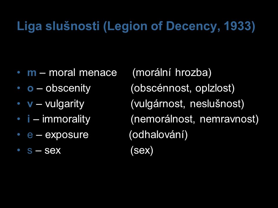Liga slušnosti (Legion of Decency, 1933)