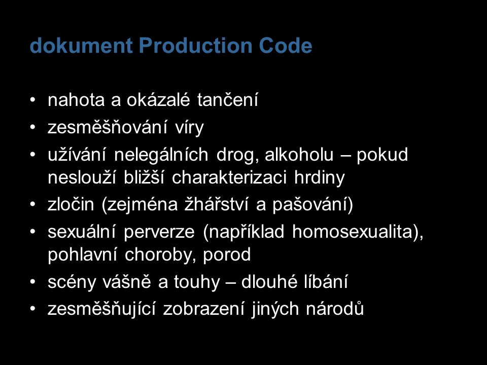 dokument Production Code