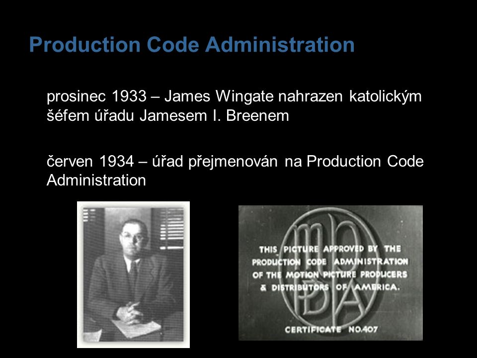 Production Code Administration