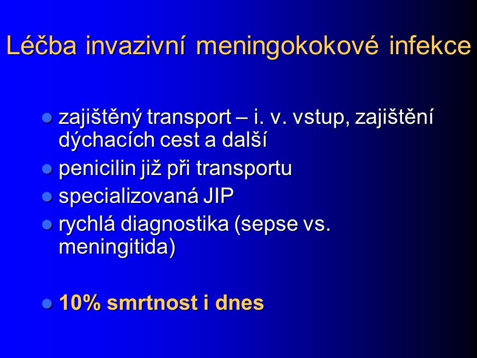 Léčba invazivní meningokokové infekce