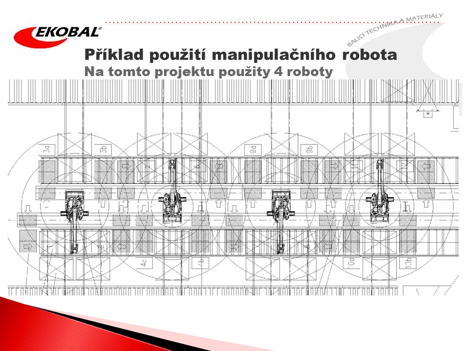 Příklad použití manipulačního robota