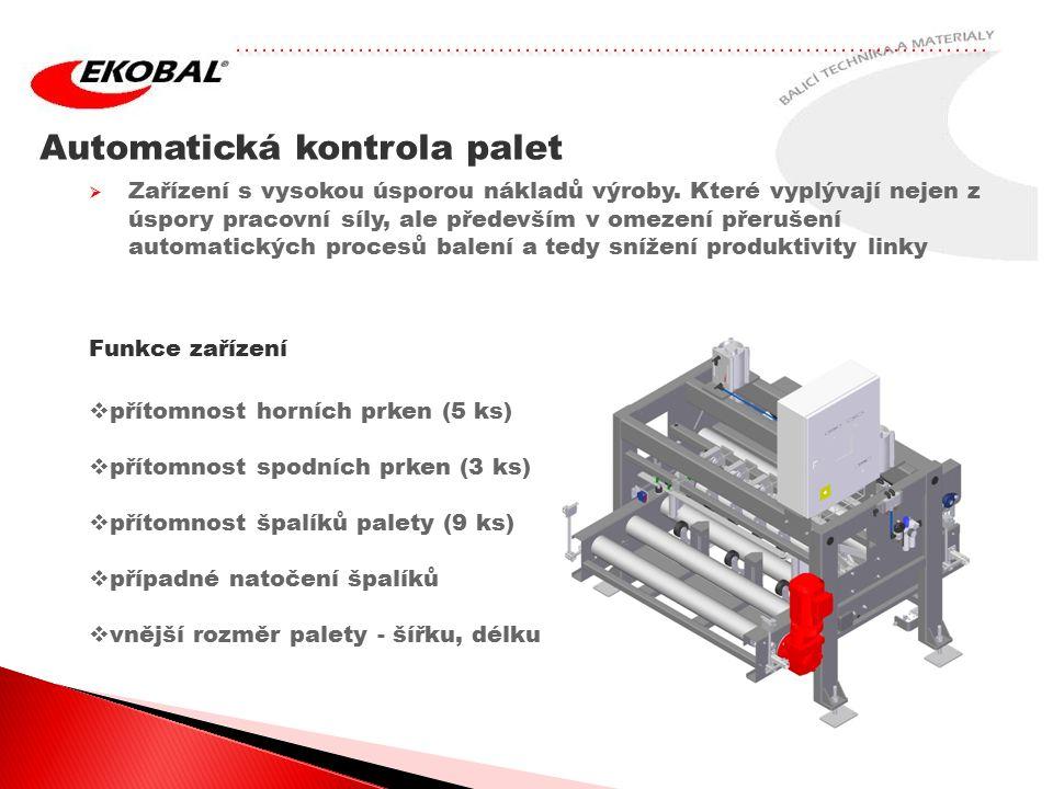 Automatická kontrola palet