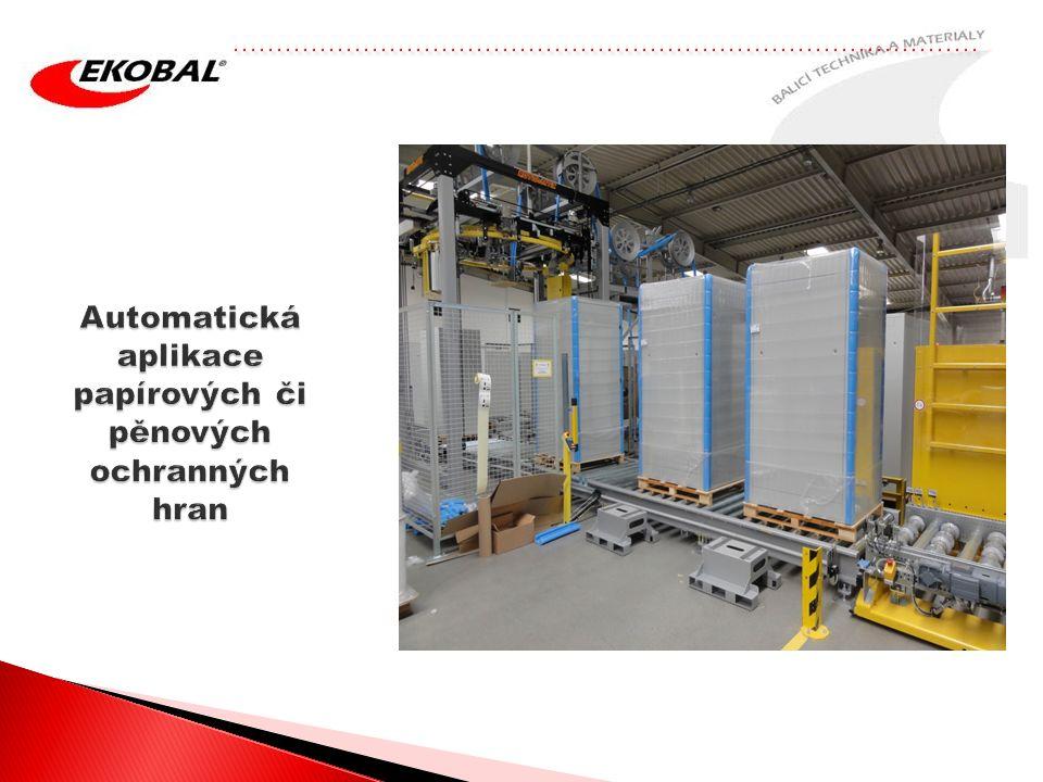 Automatická aplikace papírových či pěnových ochranných hran