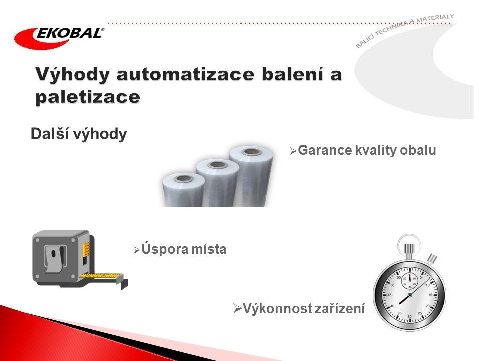Výhody automatizace balení a paletizace