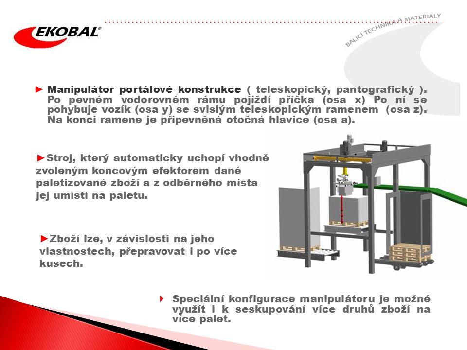 Manipulátor portálové konstrukce ( teleskopický, pantografický )