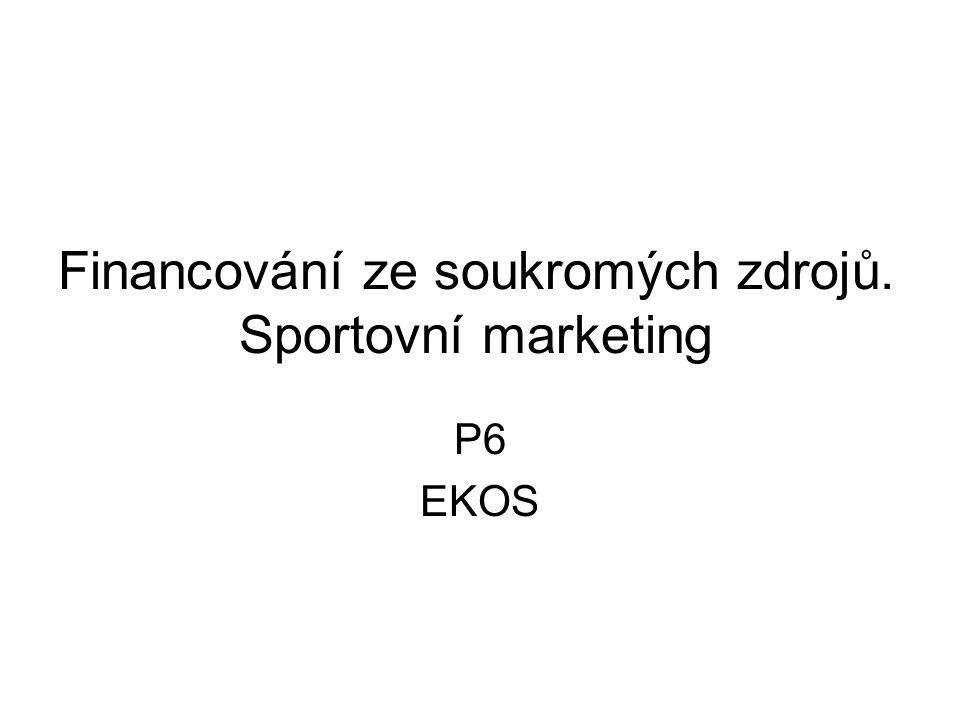 Financování ze soukromých zdrojů. Sportovní marketing