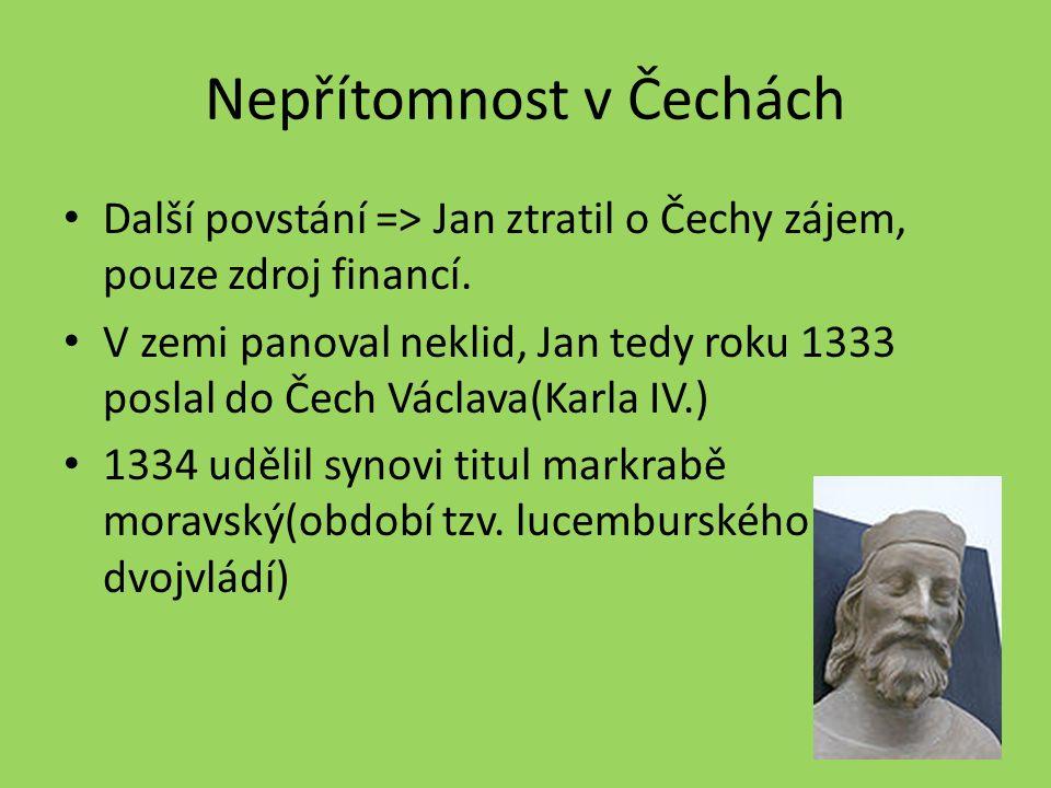 Nepřítomnost v Čechách