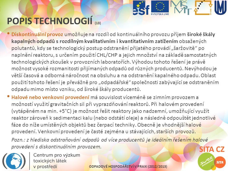 Popis technologií (13)