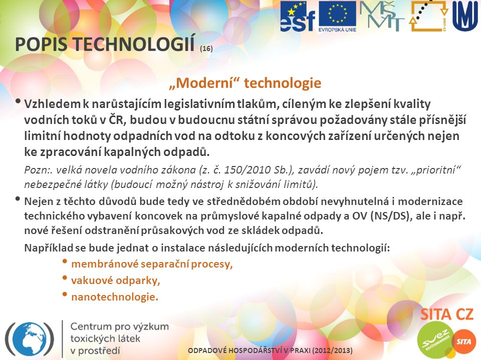 """""""Moderní technologie"""