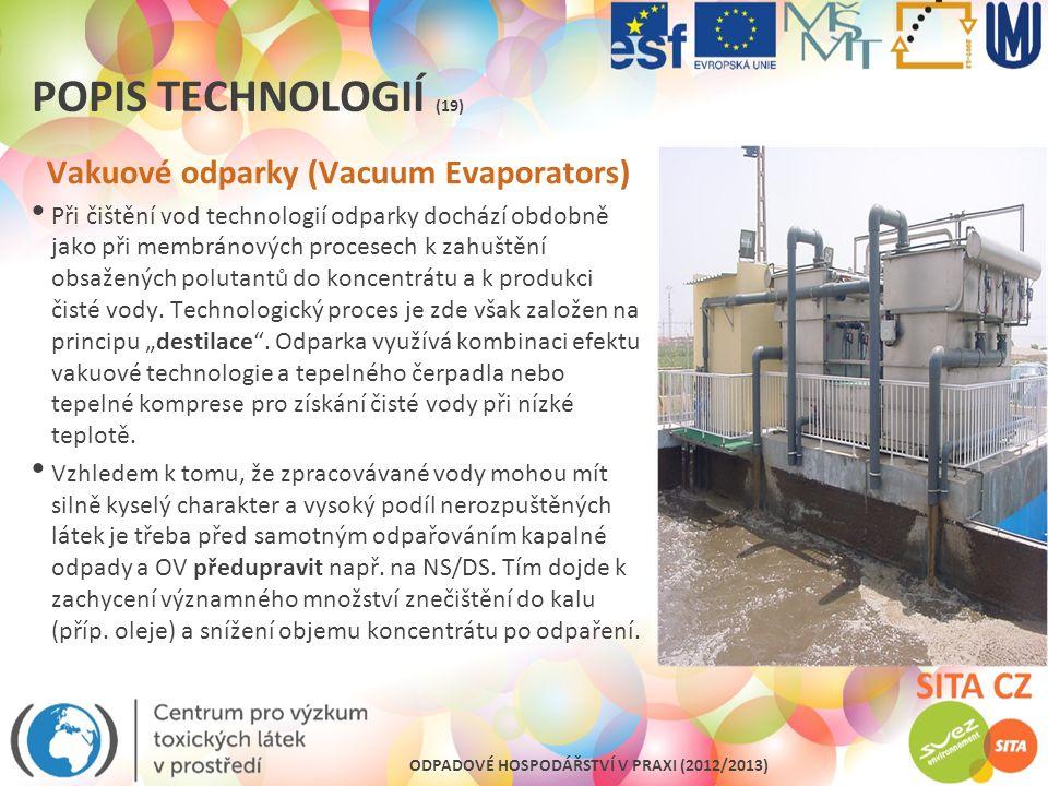 Vakuové odparky (Vacuum Evaporators)