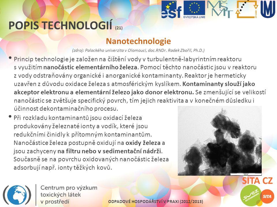 Popis technologií (21) Nanotechnologie