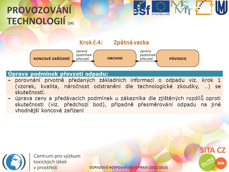 Provozování technologií (26)