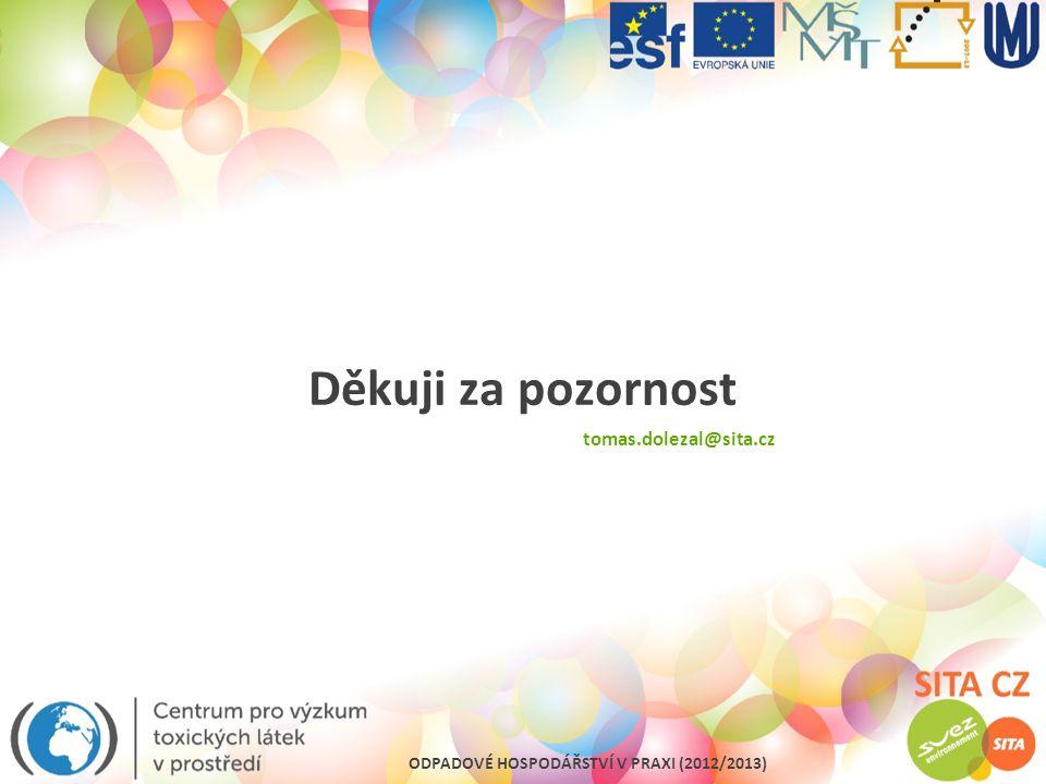 Děkuji za pozornost tomas.dolezal@sita.cz