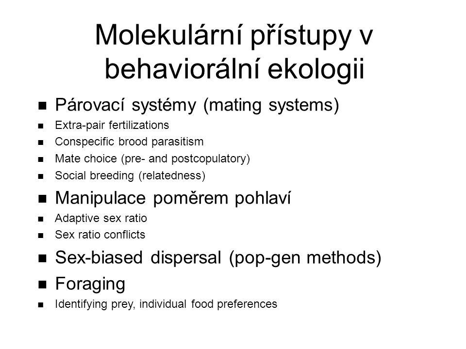 Molekulární přístupy v behaviorální ekologii