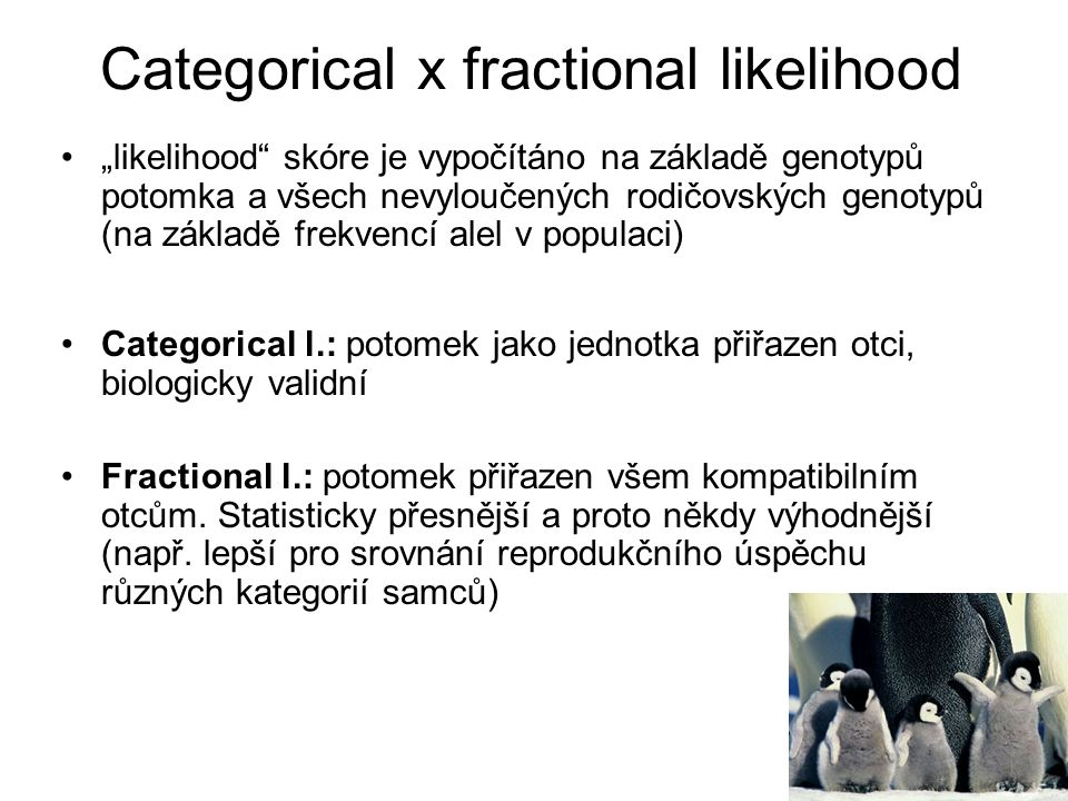 Categorical x fractional likelihood