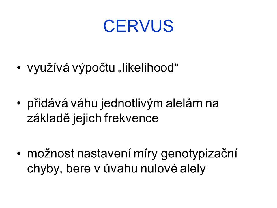 """CERVUS využívá výpočtu """"likelihood"""