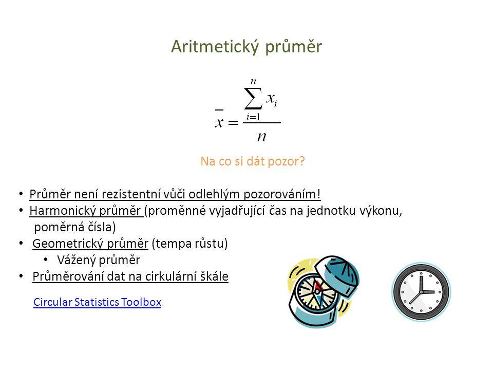 Aritmetický průměr Na co si dát pozor