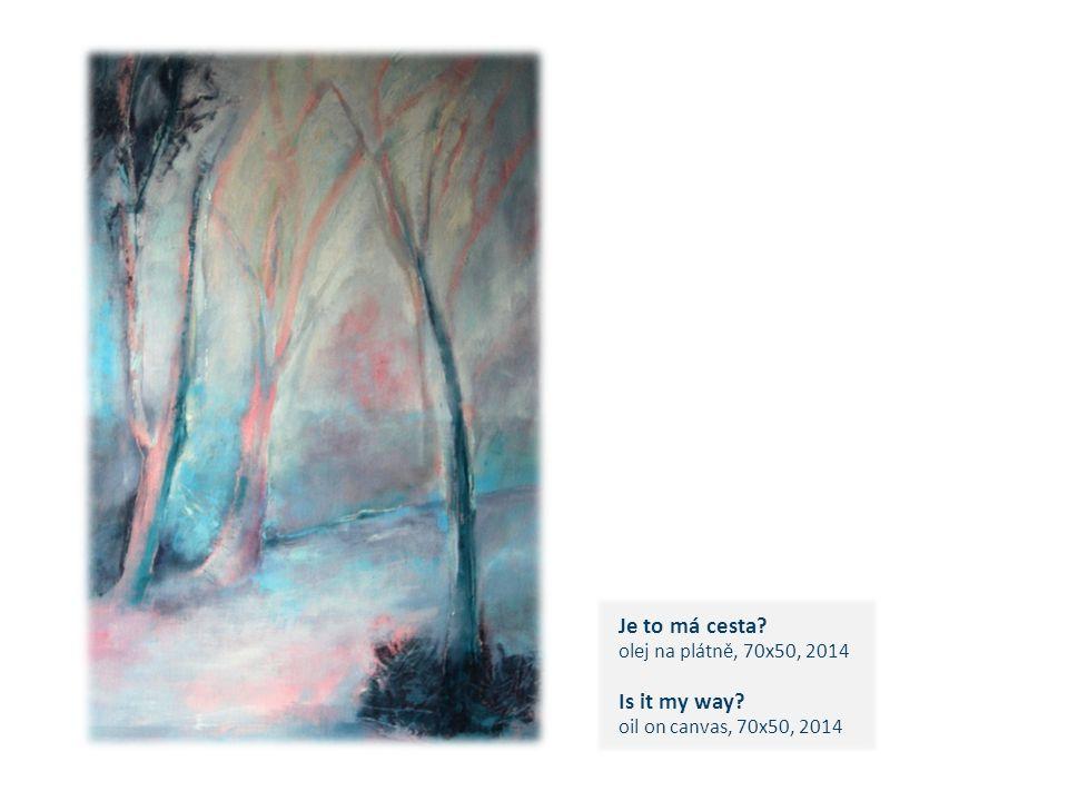 Je to má cesta olej na plátně, 70x50, 2014