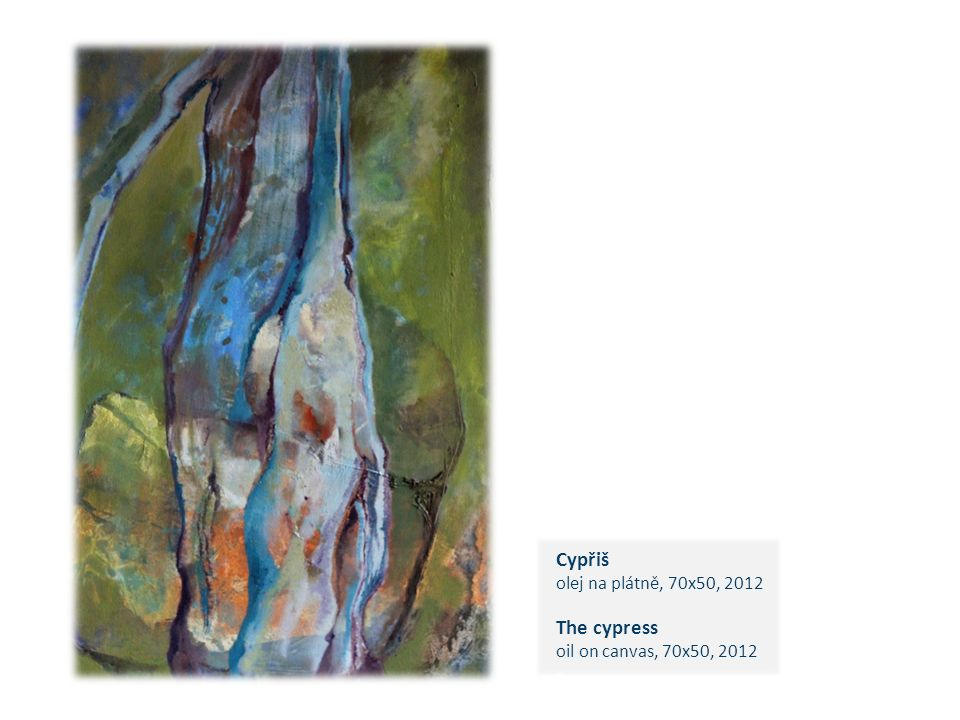 Cypřiš olej na plátně, 70x50, 2012 The cypress oil on canvas, 70x50, 2012 c