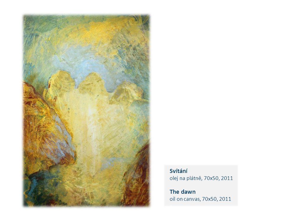 Svítání olej na plátně, 70x50, 2011