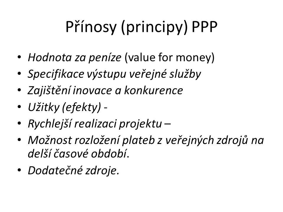 Přínosy (principy) PPP
