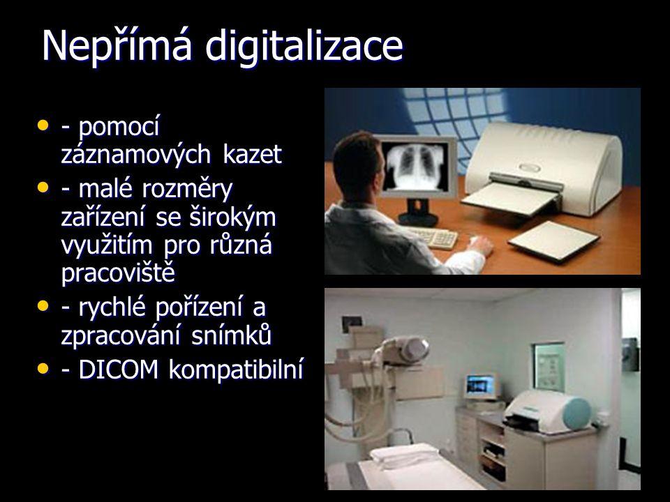 Nepřímá digitalizace - pomocí záznamových kazet