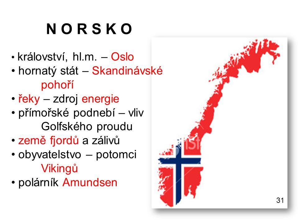 N O R S K O hornatý stát – Skandinávské pohoří řeky – zdroj energie