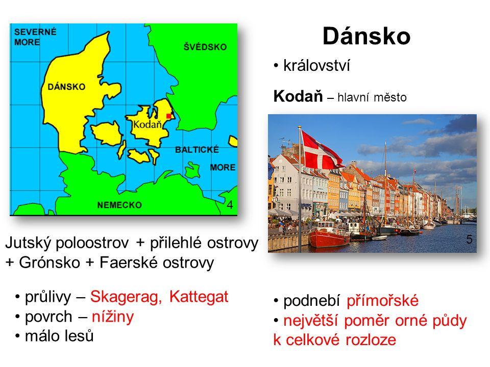 Dánsko království Kodaň – hlavní město