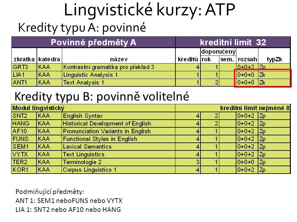 Lingvistické kurzy: ATP