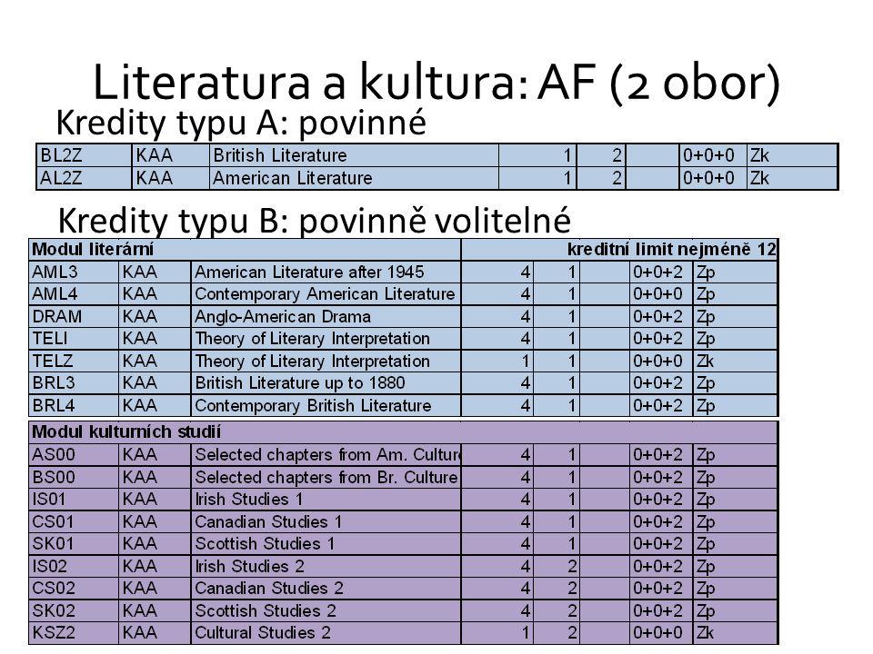 Literatura a kultura: AF (2 obor)
