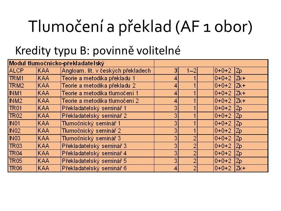 Tlumočení a překlad (AF 1 obor)