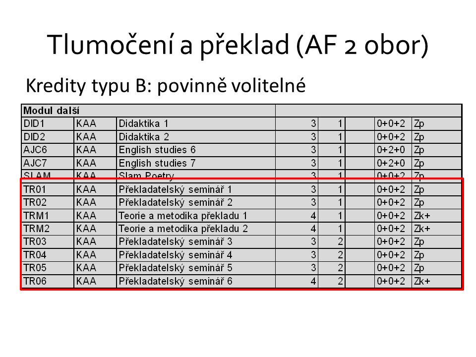 Tlumočení a překlad (AF 2 obor)