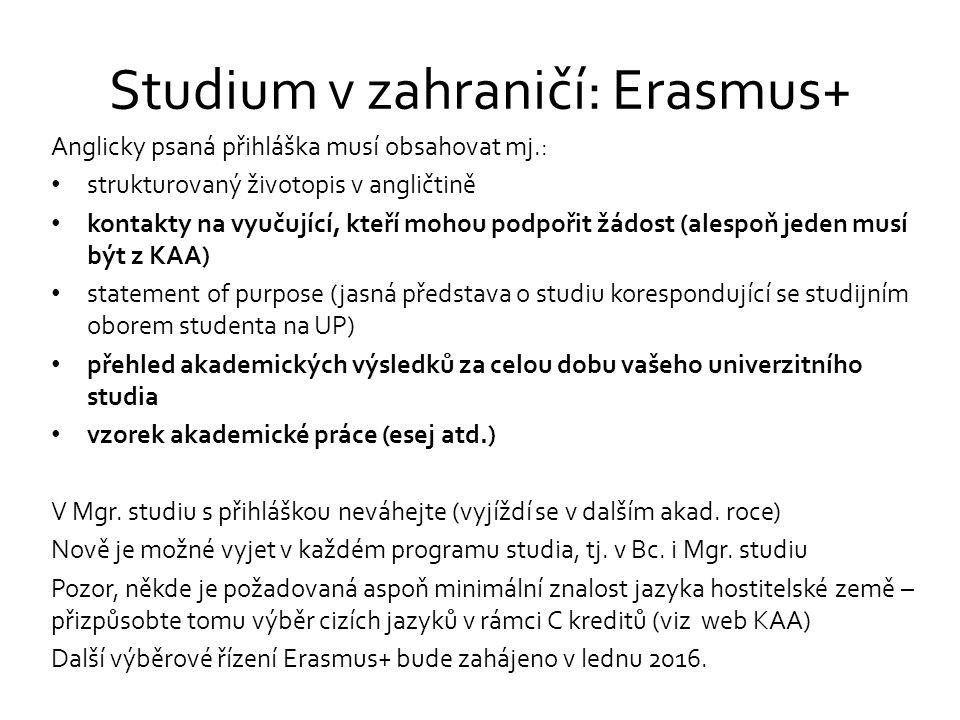 Studium v zahraničí: Erasmus+